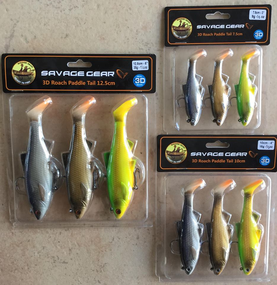 Amostra Savage Gear 3D Roach Paddle Tail