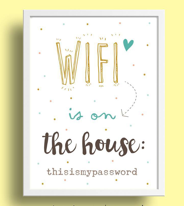 Miniposter, Wifi Is On The House