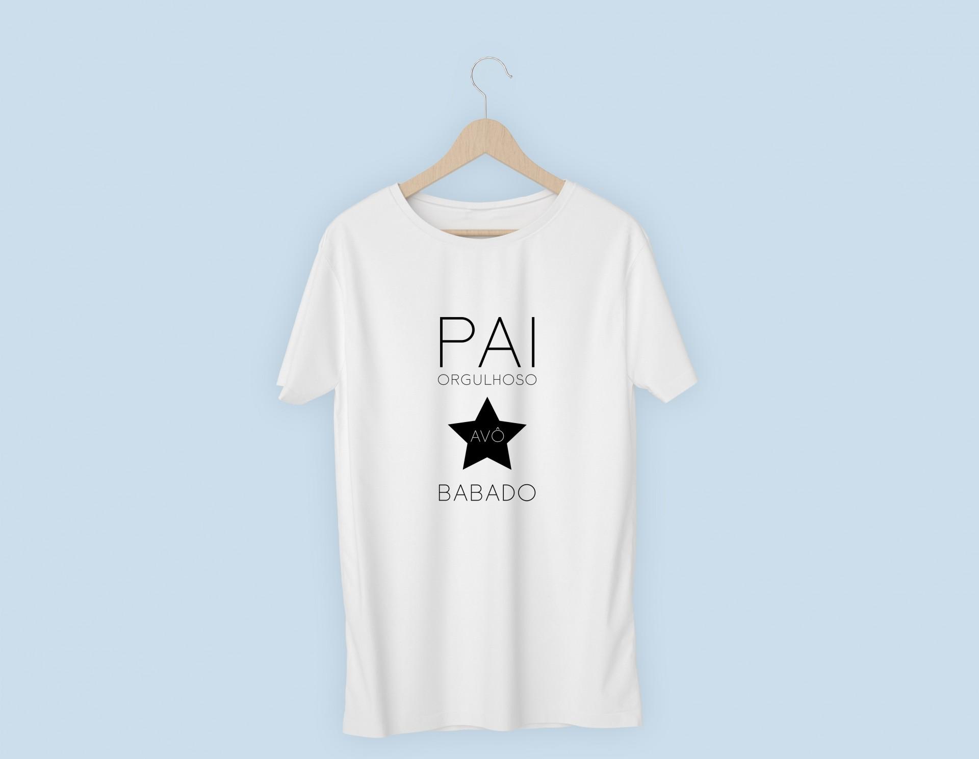 T-shirt Pai orgulhoso Avô Babado