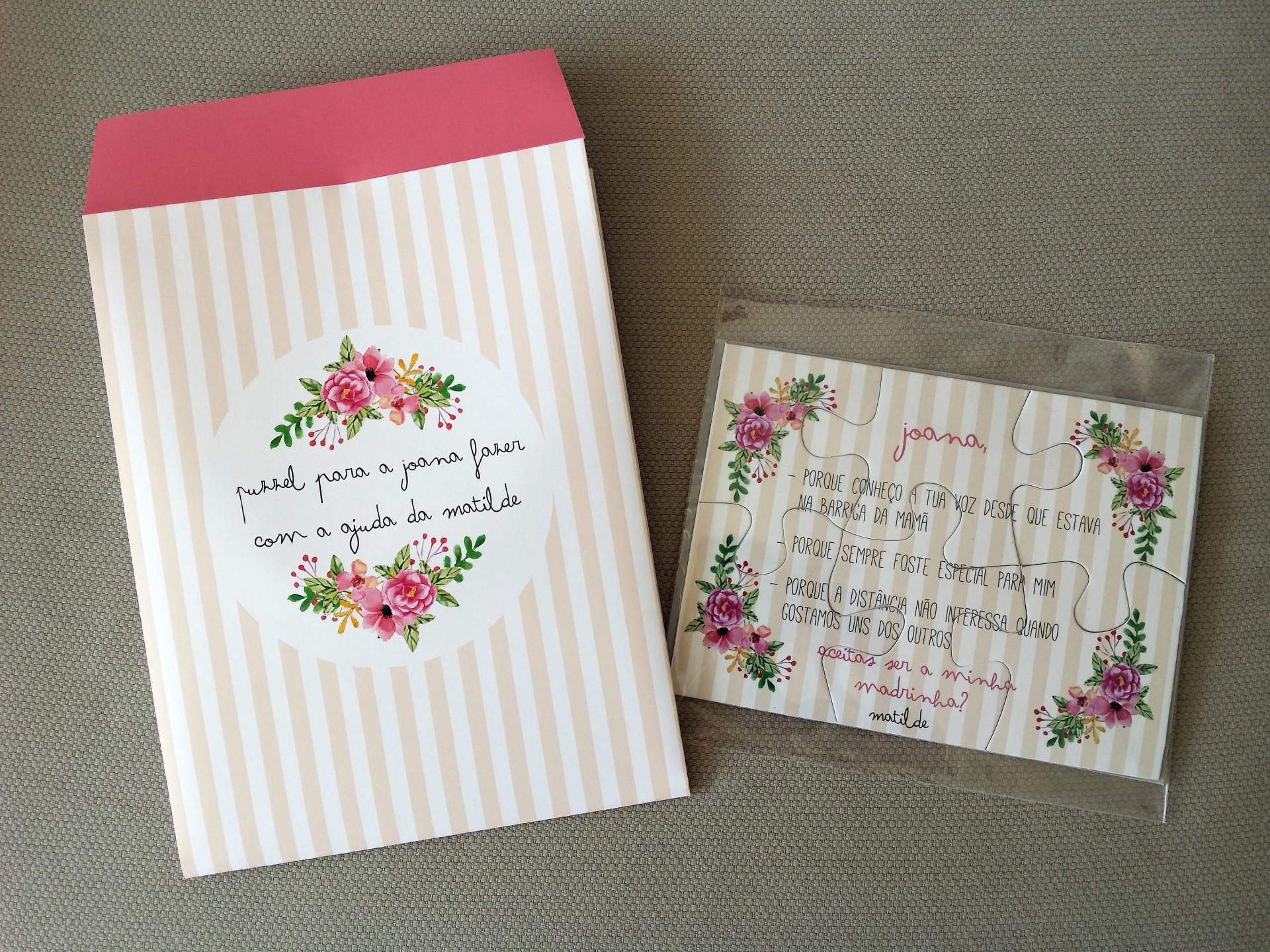 Convite Puzzle (com envelope)