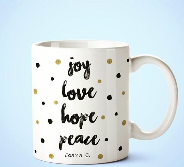 Caneca, Joy Love Hope Peace