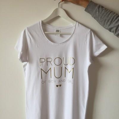 T-shirt personalizada Proud Mum