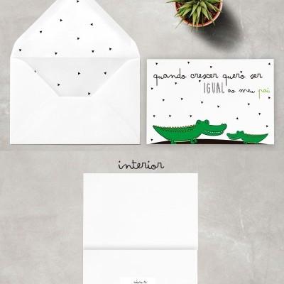 Postal personalizado + Envelope (vários temas)