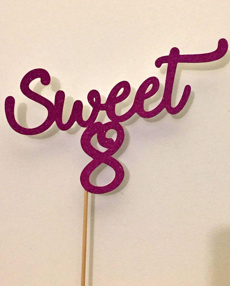 Topper Sweet 8 glitter