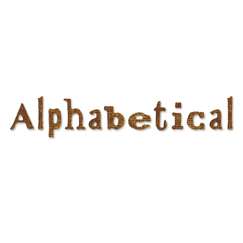 Alphabet Alphabetical by Tim Holtz