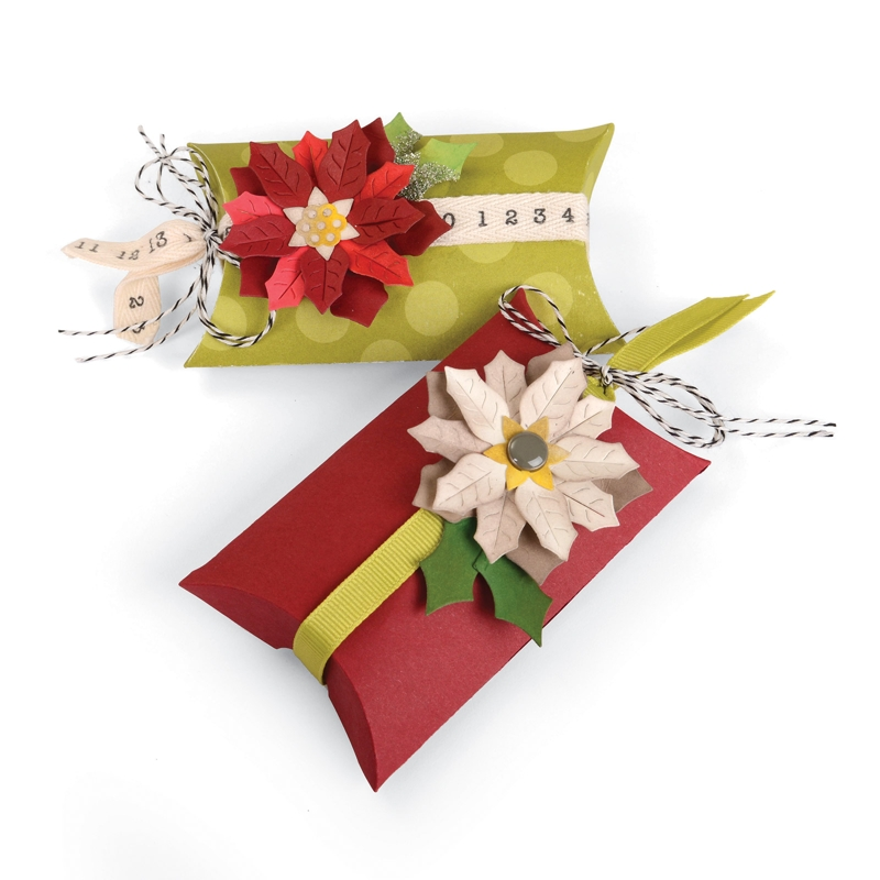 Box, Pillow & Poinsettias