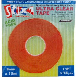 Ultra Clear Double Sided Tape 3mmx15m