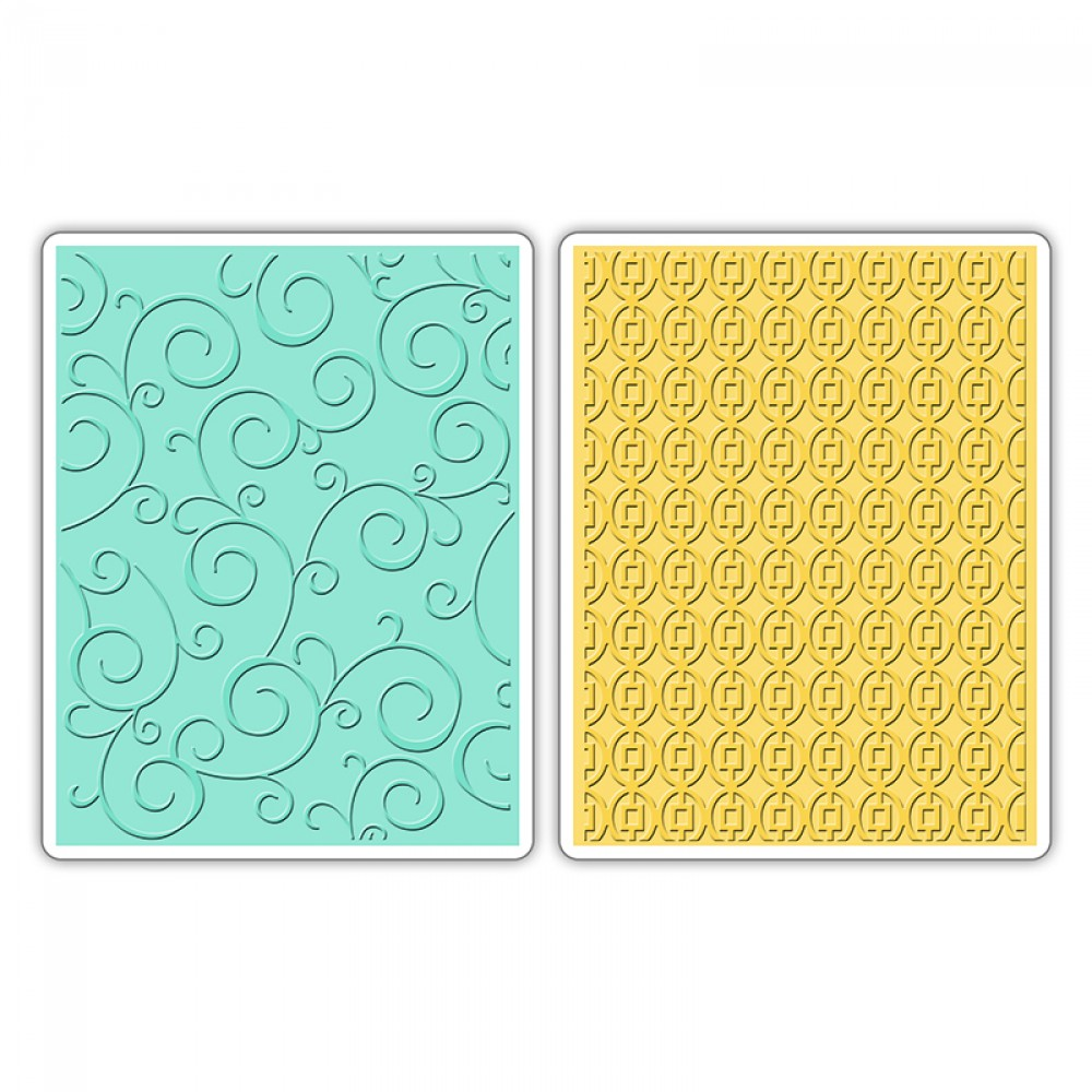 Swirls & Squares in ovals set