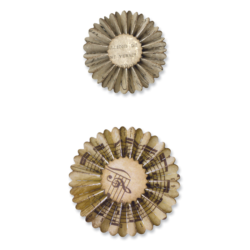 Mini Paper Rosettes by Tim Holtz