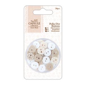 Botões Polka Oyster Blush