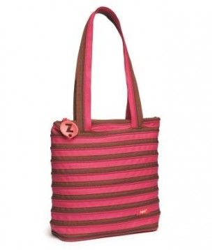 Extra Large Tote Bag Fuschia & Deep Brown