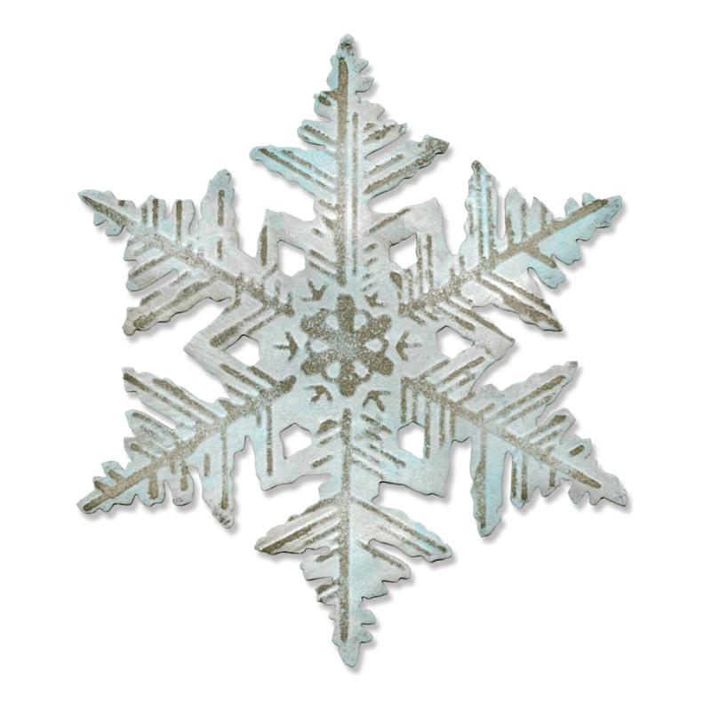 Pre-Cortado Layered Snowflake