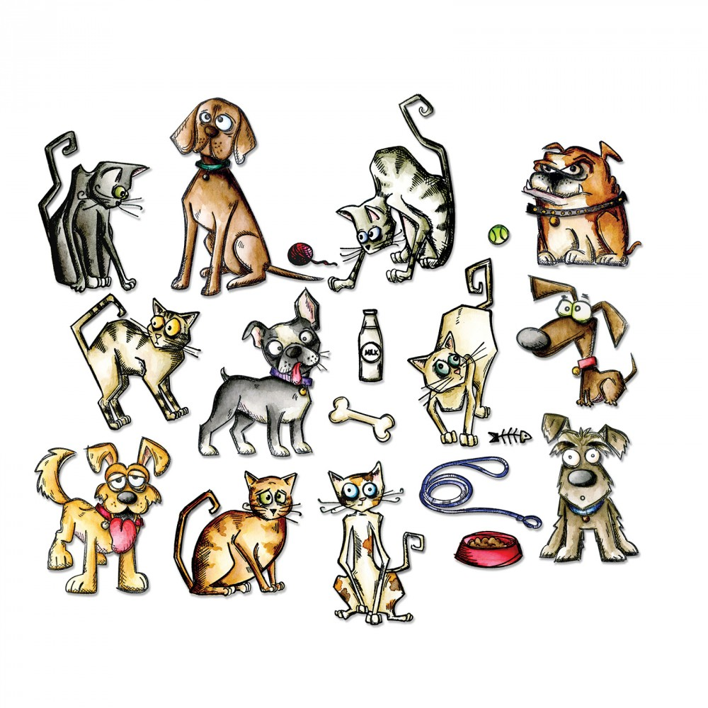 Mini Crazy Cats & Dogs