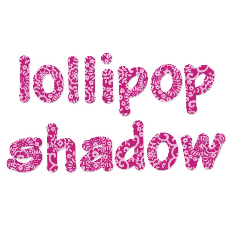 Lollipop Shadow Lowercase Letters