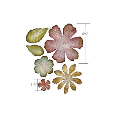 Jumbo Tattered Florais by Tim Holtz