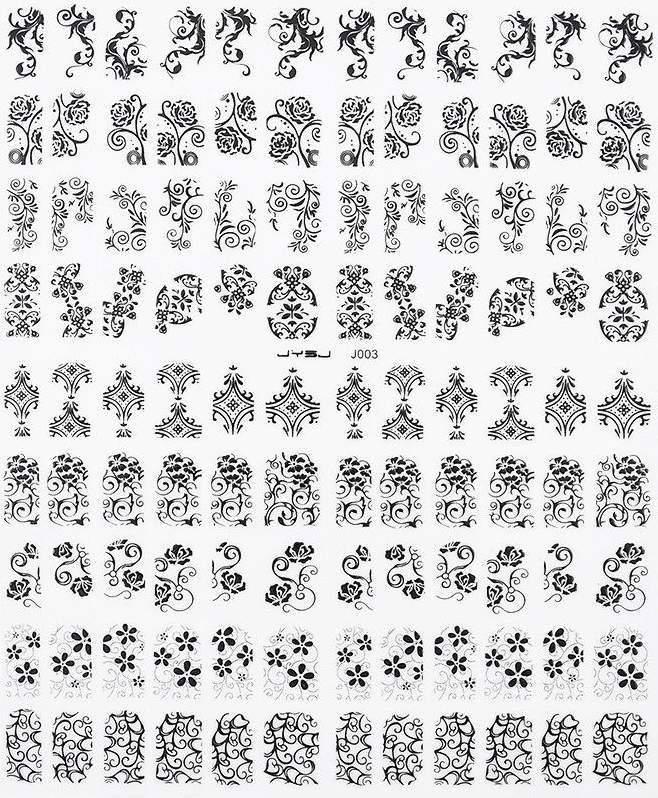 Autocolantes com Cornucópias 3D - Preto