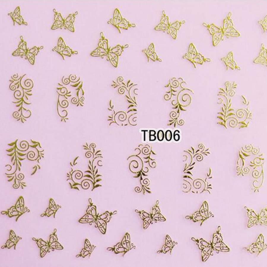 Autocolantes  3D Dourados - TB006