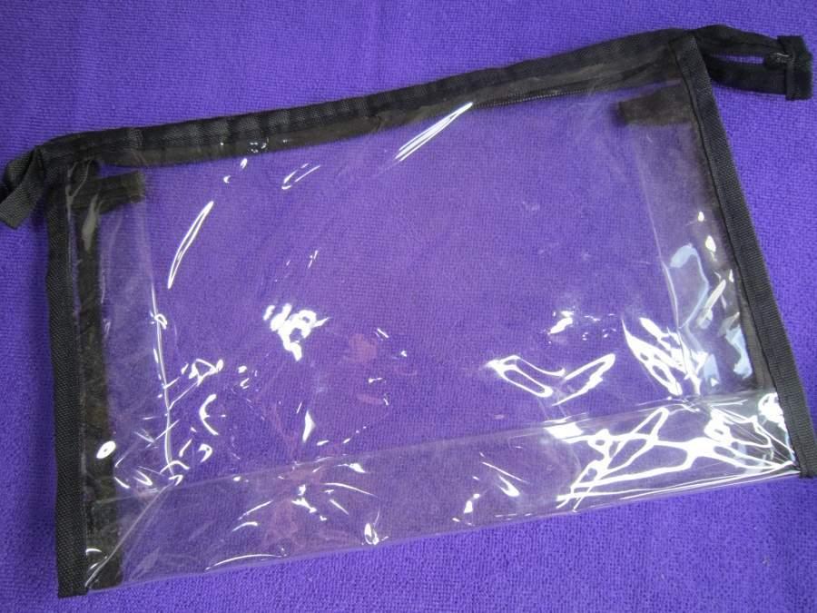 Bolsa Transparente para guardar pinceis, maquilhagem, etc.