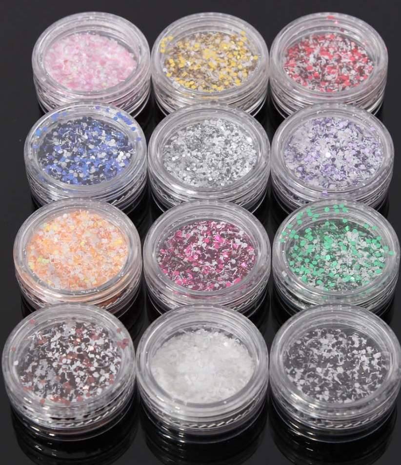 Confetis Coloridos com Neve - Conjunto 12 Cores