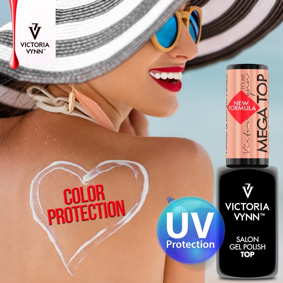 Victoria Vynn - Mega Top - 8 ml - Protege as cores dos raios UV