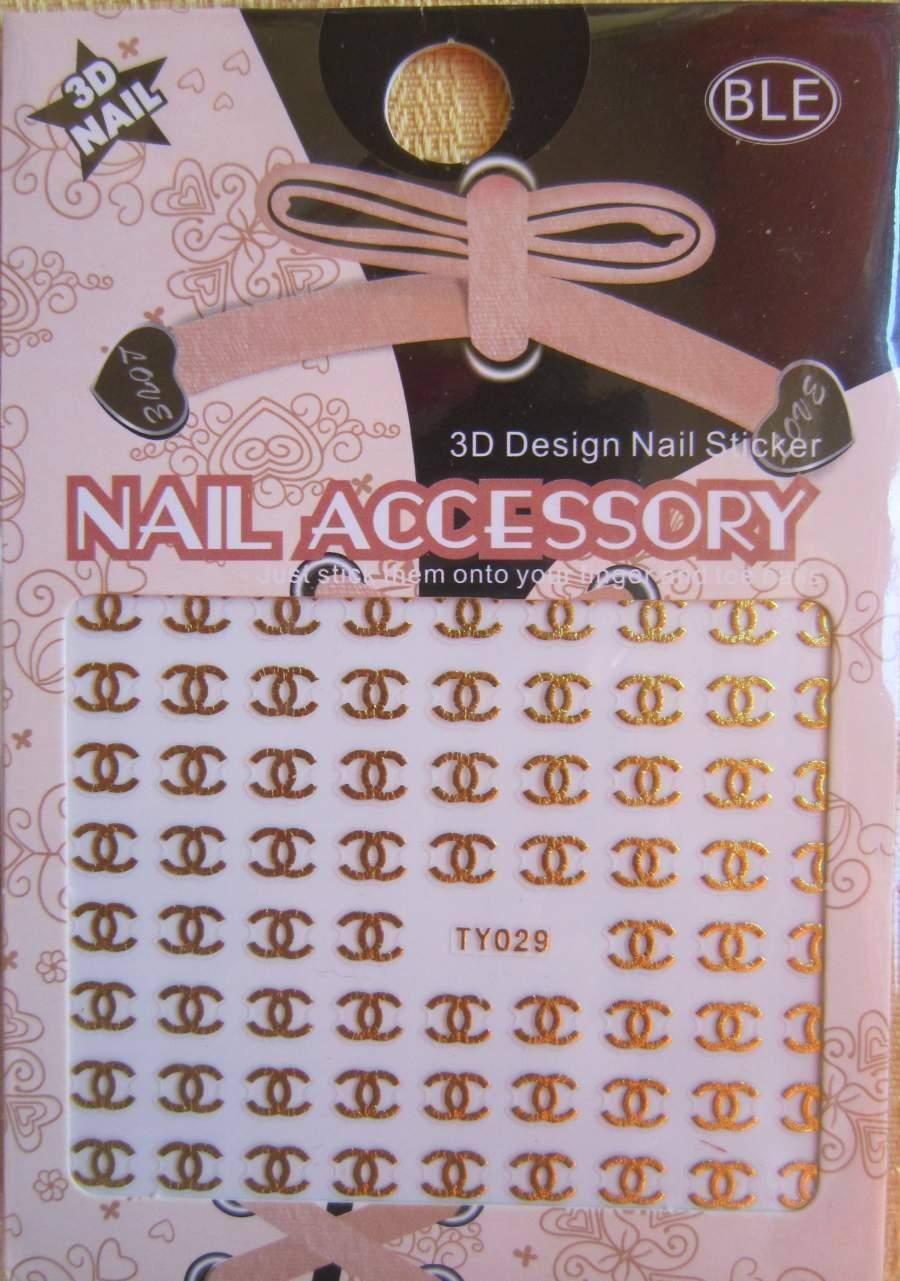 Autocolantes Chanel TY029 - Dourado