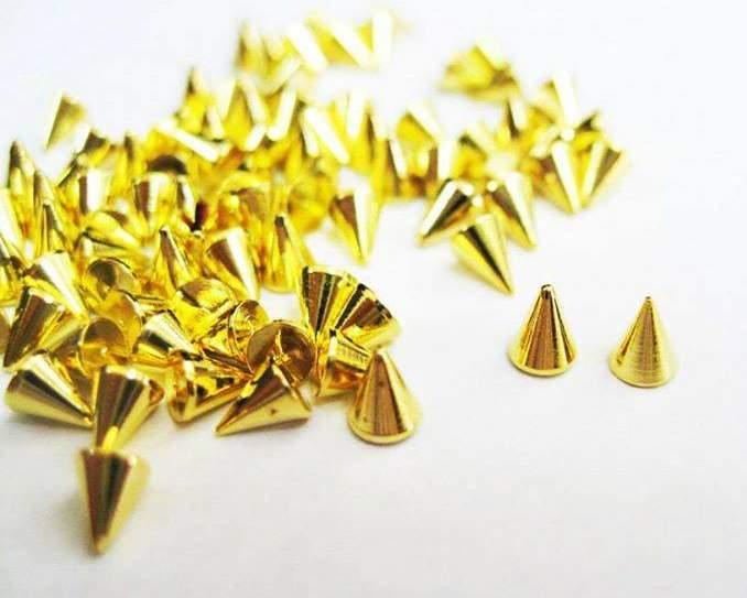 Spikes Dourados - 10 unidades