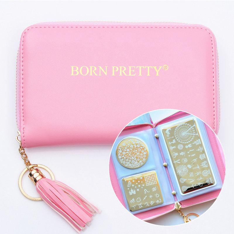 Bolsa para Placas de Carimbos - Rosa - Born Pretty
