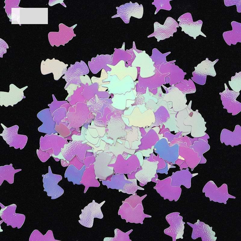 Unicórnios em confetis para Nail Art - 10 unidades