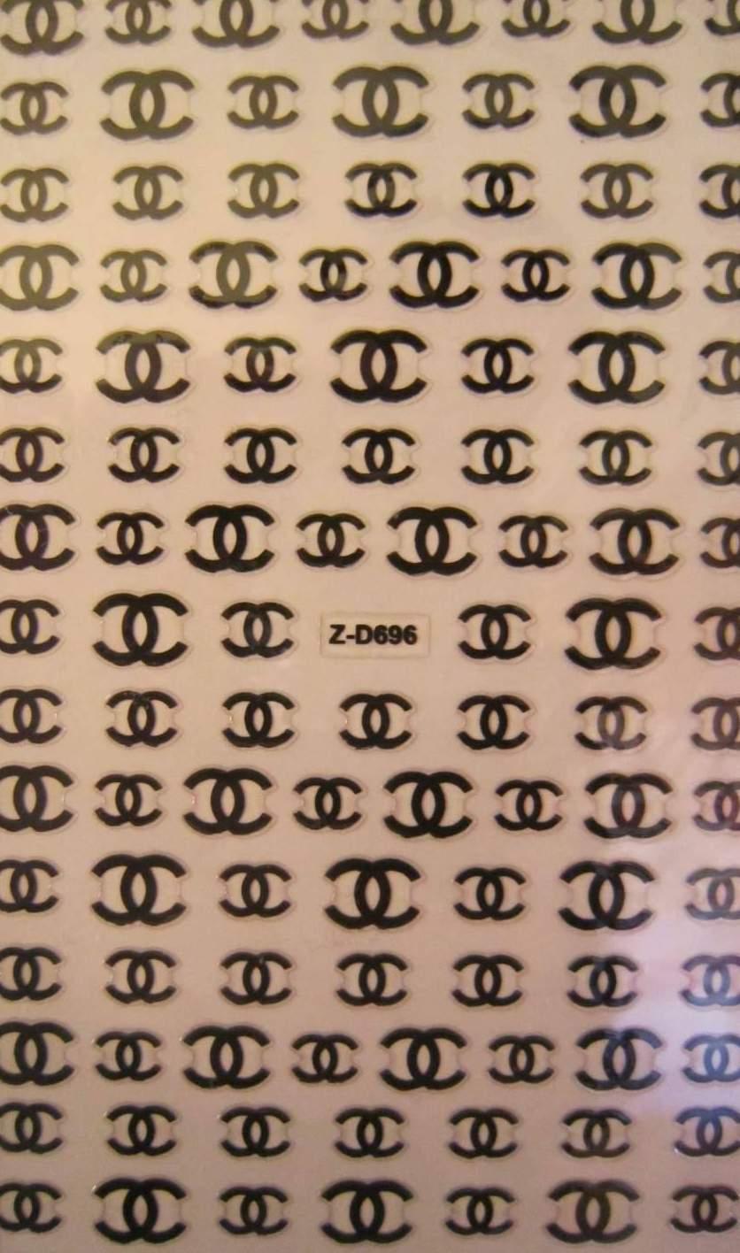 Autocolantes Chanel Z-D696 Preto