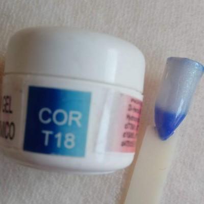 Gel Térmico T18 - Azul Escuro / Azul Claro com Glitter