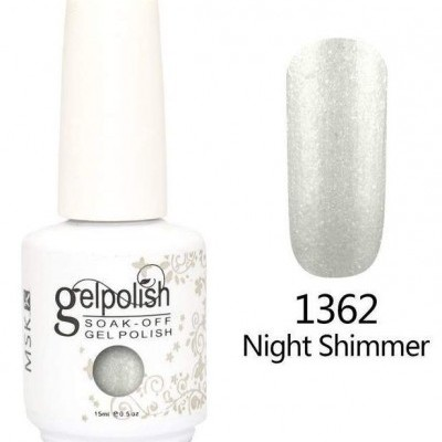 Gel Polish 1362 Glitter Prateado - 15 ml
