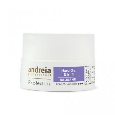 Andreia Hard Gel - 2 in 1 - Glitter Clear - 22 grs