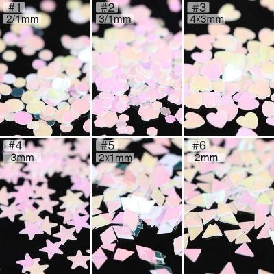 Confetis Rosa Translúcidos Várias Formas