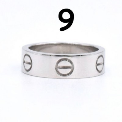 Anel Cartier Love - Prateado - Nº 9