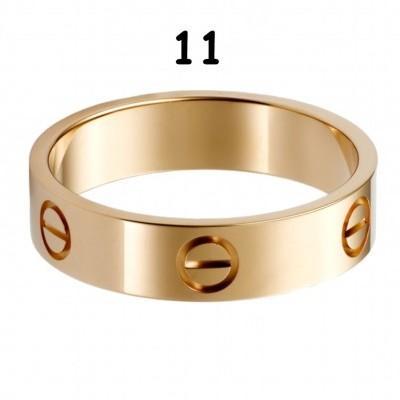 Anel Cartier Love - Dourado Amarelo - Nº 11