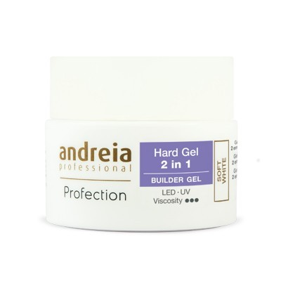 Andreia Hard Gel - 2 in 1 - Soft White - 22 grs