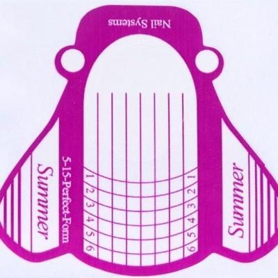 Moldes para extensão - Cor de Rosa - 100 unidades