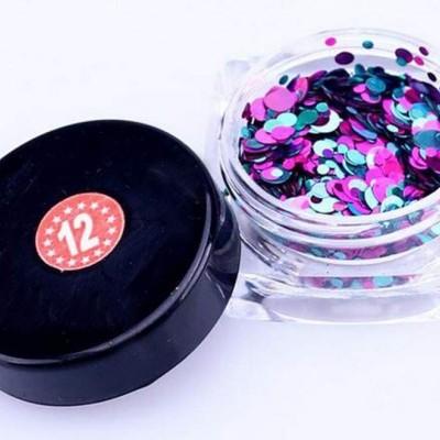 Confetis Bolinhas Coloridas Espelhadas - Nº 012