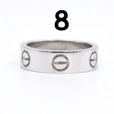 Anel Cartier Love - Prateado - Nº 8
