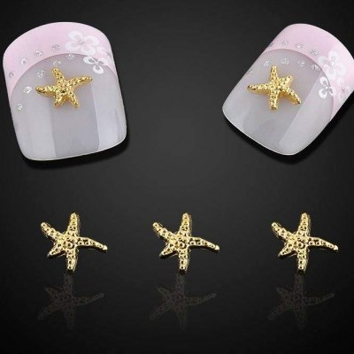 Estrelas Douradas 3D - 10 unidades