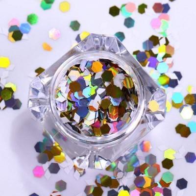Confetis Coloridos Hexagonais