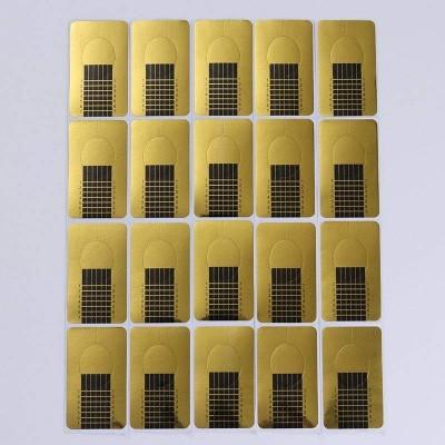 Moldes para extensão - Retangulares - 100 Unidades