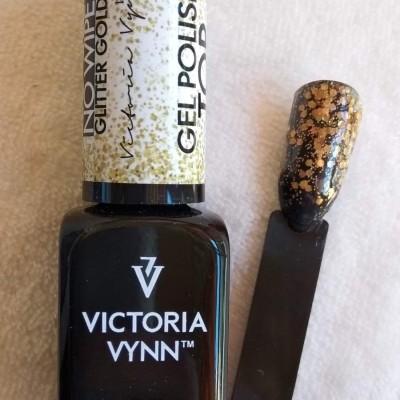 Victoria Vynn Top Coat sem goma com glitter dourado - 8 ml