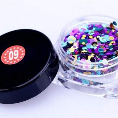 Confetis Bolinhas Coloridas Espelhadas - Nº 09