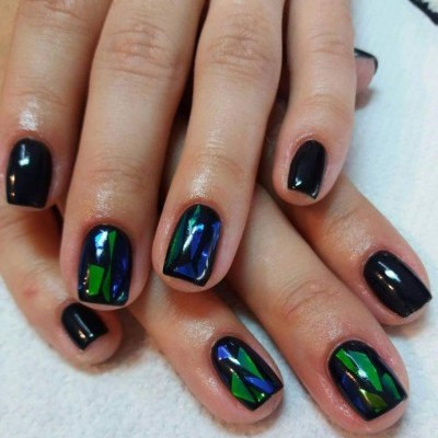 Papel Patine Verde - Unhas de vidro