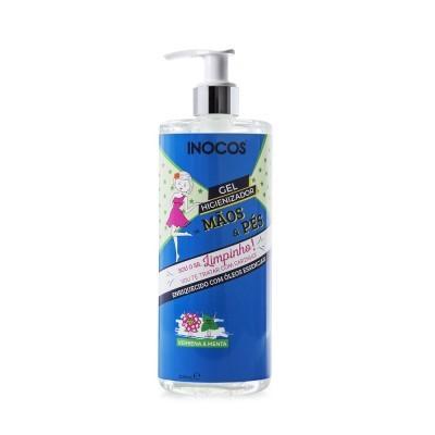 Gel Higienizador de Mãos e Pés Inocos - Verbena e Menta - 500ml