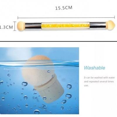 Pincel Esponja Amarelo - Para Nail Art