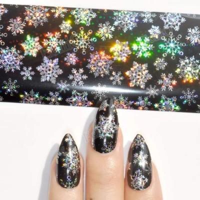 Foil Flocos de Neve Holográficos