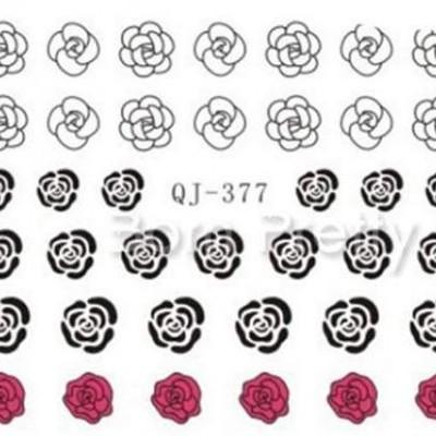 Decalques Rosas QJ-377