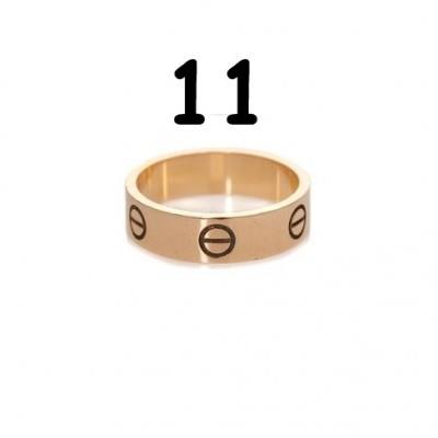 Anel Cartier Love - Dourado Rosa - Nº 11